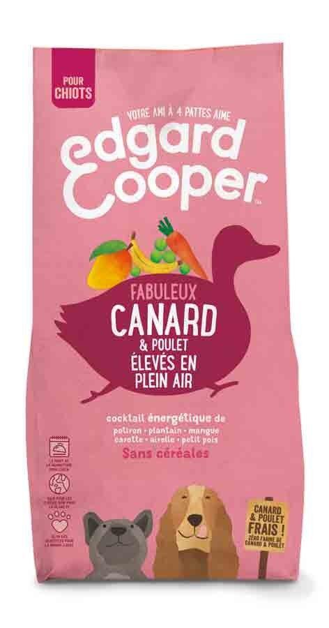Edgard & Cooper Croquettes Canard et Poulet frais sans céréales Chiot 7 kg