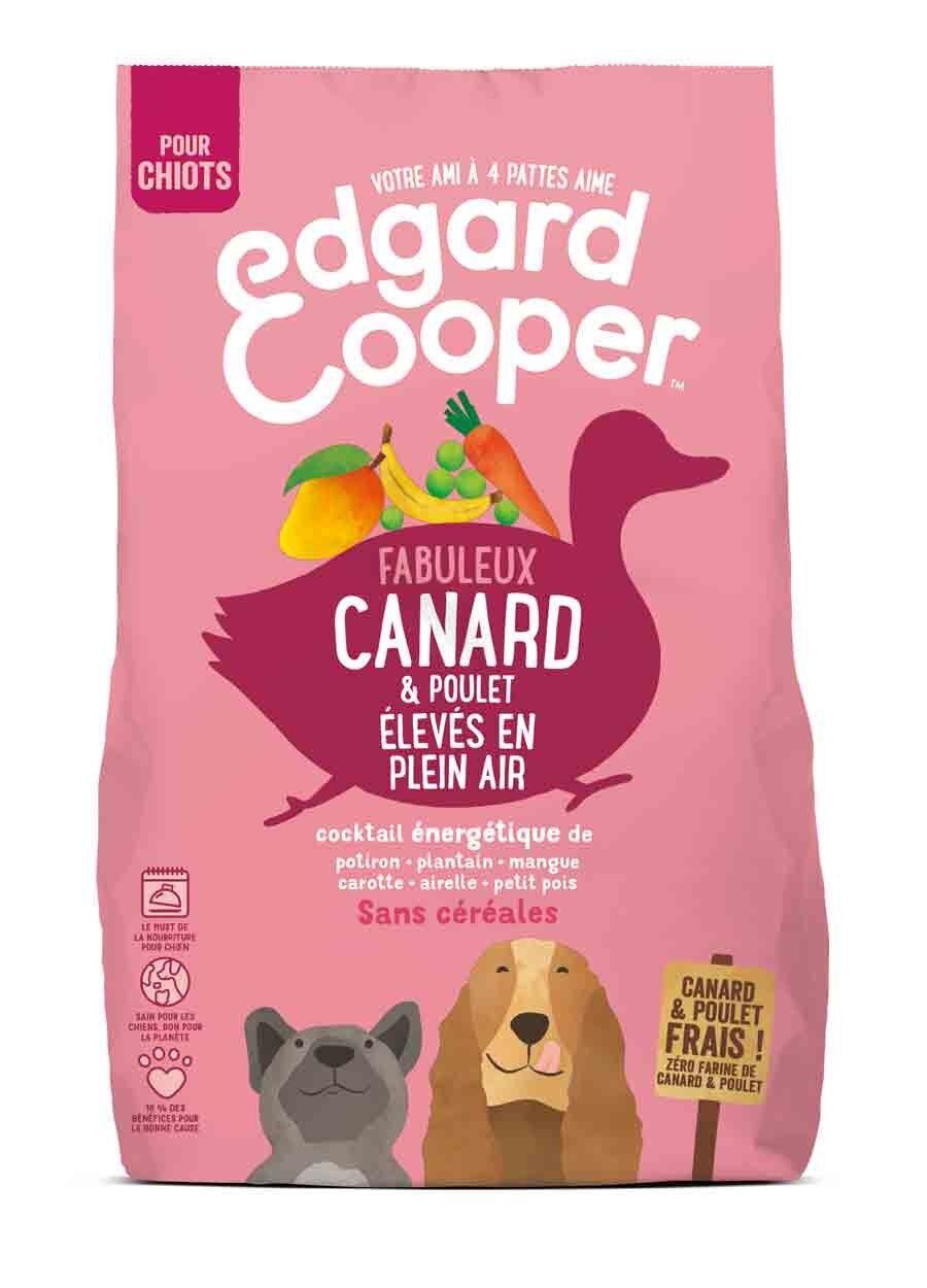 Edgard & Cooper Croquettes Canard et Poulet frais sans céréales Chiot 700 g