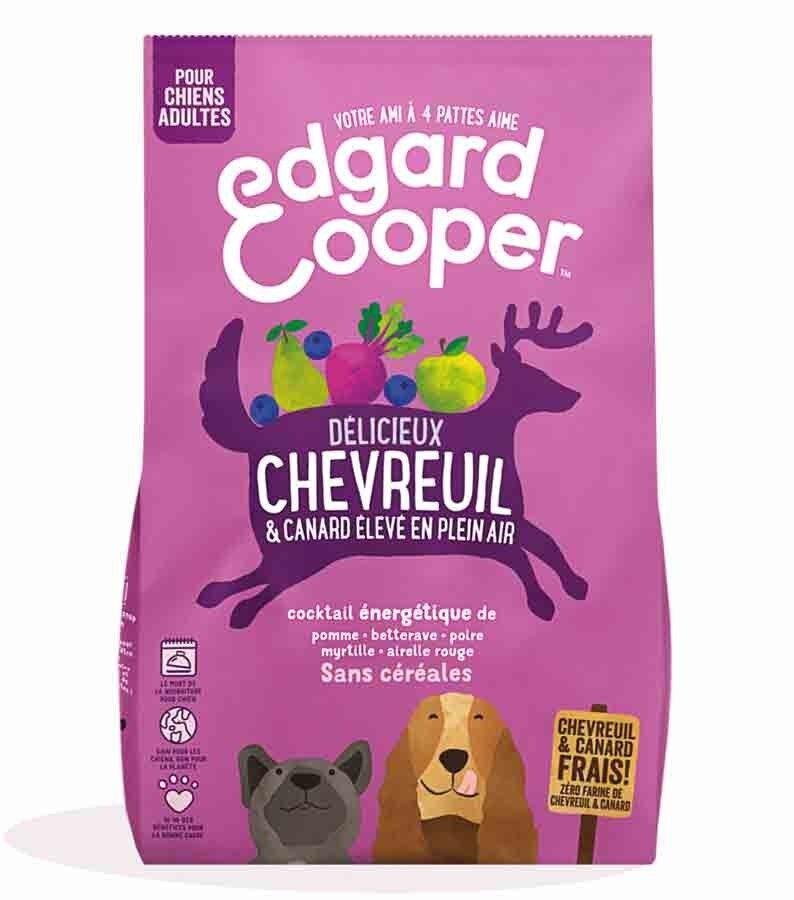 Edgard & Cooper Croquettes Chevreuil frais & Canard sans céréales Chien adulte 700 g