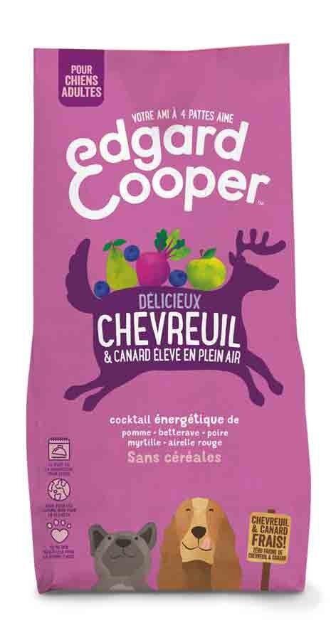 Edgard & Cooper Croquettes Chevreuil frais & Canard sans céréales Grand Chien adulte 12 kg