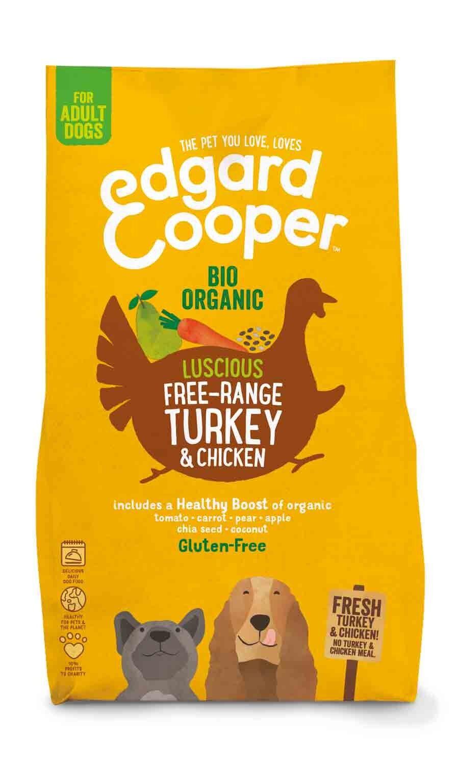 Edgard & Cooper croquettes Dinde & Poulet Frais Bio Chien Adulte 2,5 kg
