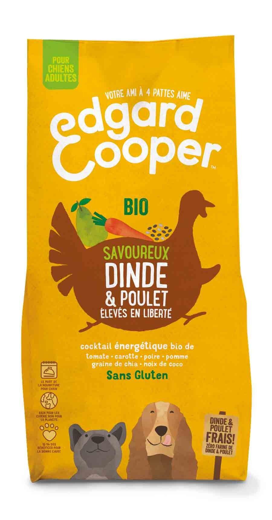 Edgard & Cooper Croquettes Dinde & Poulet Frais Bio Chien Adulte 7 kg