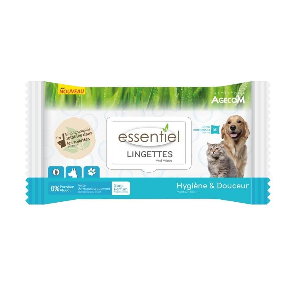 Essentiel Lingettes biodégradable sans parfum x 50