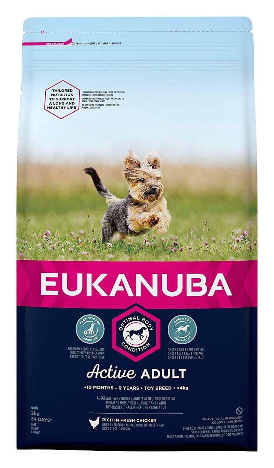 Eukanuba Chien Active Adult Race Miniature au poulet 2 kg