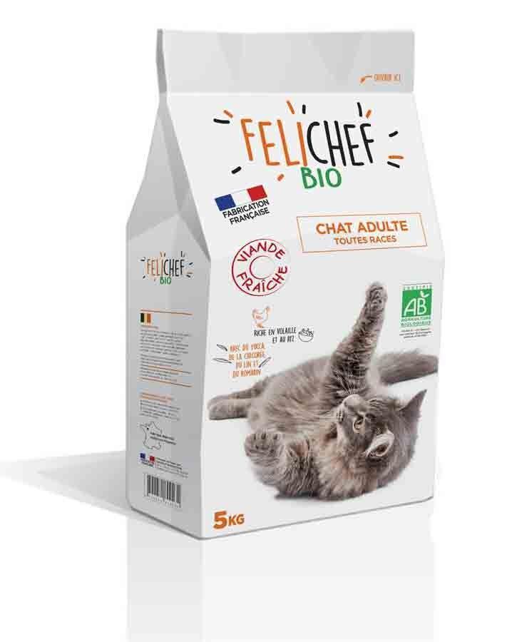 Felichef croquettes BIO chat adulte volaille 5 kg