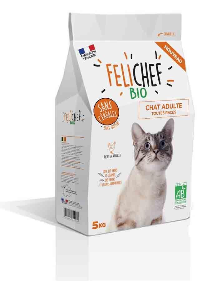 Felichef croquettes BIO sans céréales, sans gluten chat adulte 5 kg
