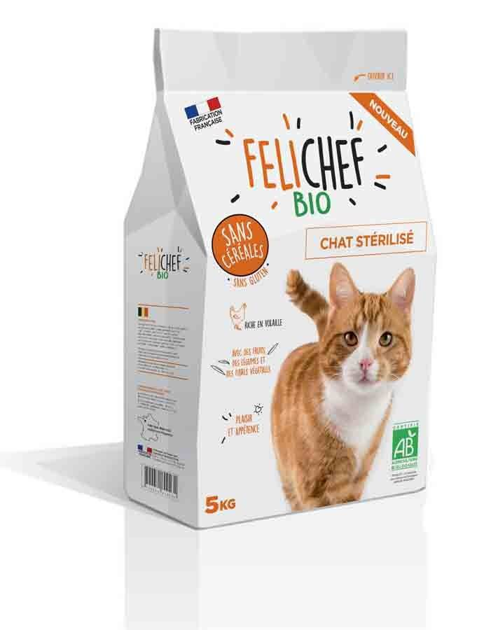 Felichef croquettes BIO sans céréales, sans gluten chat stérilisé 5 kg
