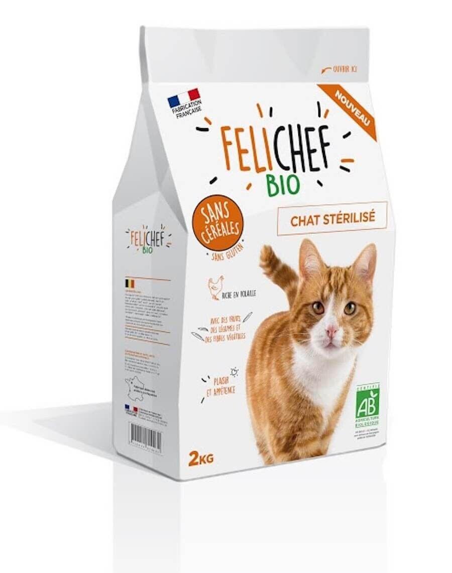 Felichef croquettes BIO sans céréales, sans gluten chat stérilisé 2 kg