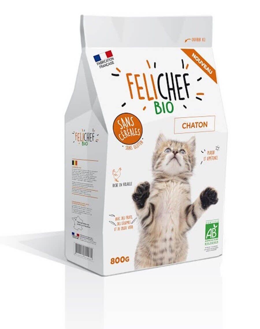 Felichef croquettes BIO sans céréales, sans gluten chaton 800 g