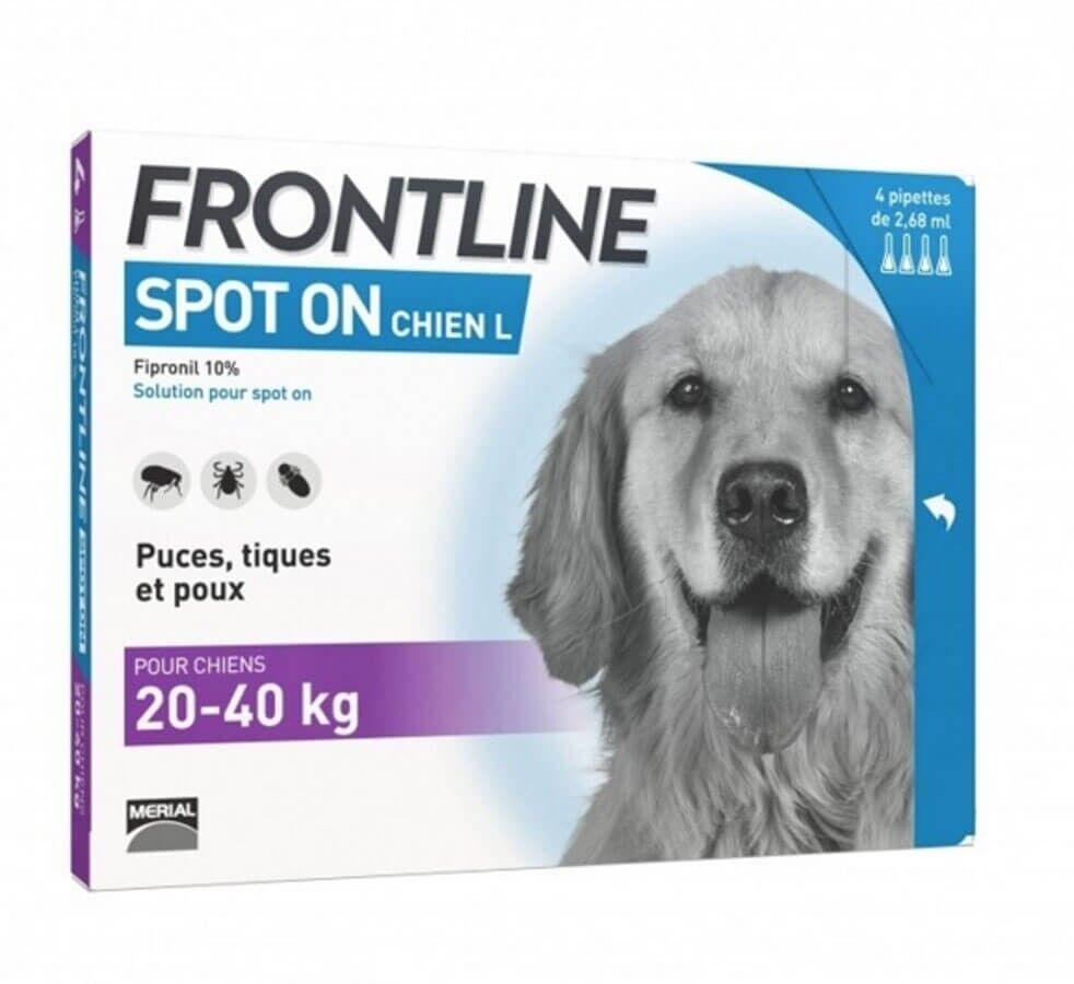 Frontline Spot on chien de 20-40 kg 4 pipettes
