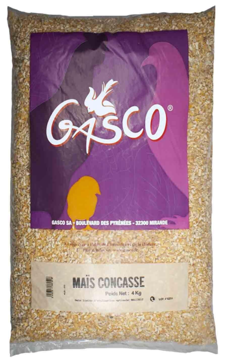 Gasco Maïs concassé pour Basse-cour 4 kg