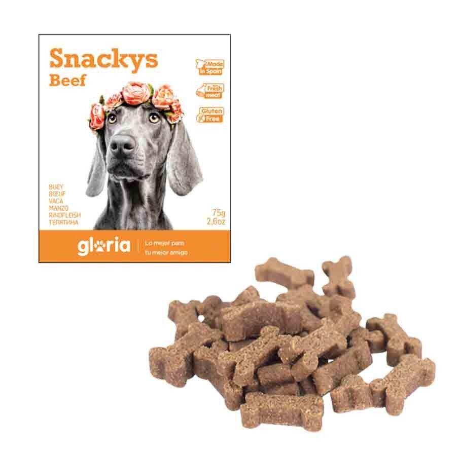 Snackys Gloria Snakys friandises au boeuf sans gluten pour chien 75 g