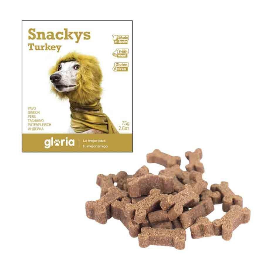Snackys Gloria Snakys friandises à la dinde sans gluten pour chien 75 g