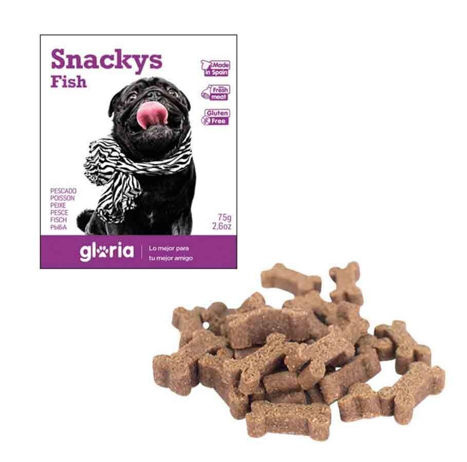 Snackys Gloria Snakys friandises au poisson sans gluten pour chien 75 g
