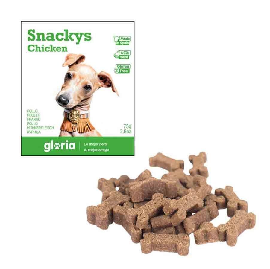 Snackys Gloria Snakys friandises au poulet sans gluten pour chien 75 g