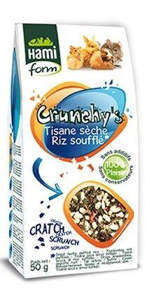 Hami Form Friandises Crunchy's Tisanes Sèches / Riz Soufflé Rongeurs 50 grs