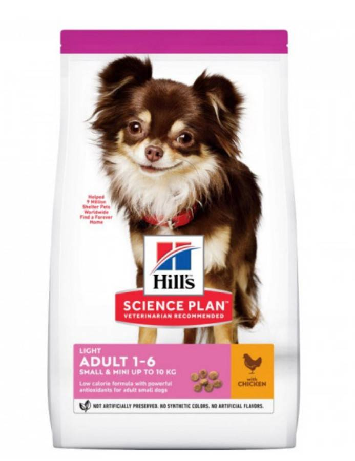 Hill's Science Plan Canine Adult Light Small&Mini Poulet 1,5 kg