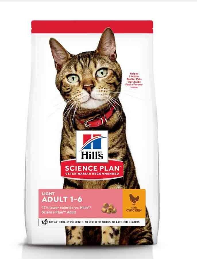 Hill's Science Plan Feline Adult Light Poulet 3 kg