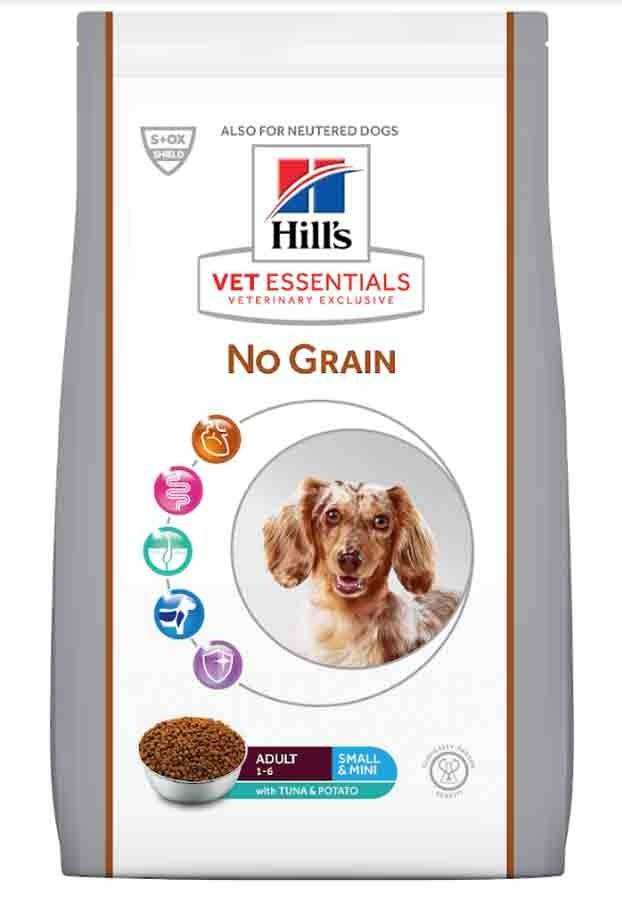 Hill's Vetessential No Grain Hill's VetEssentials Canine Adult Small & Mini No Grain Thon & Pommes de terre 2 kg