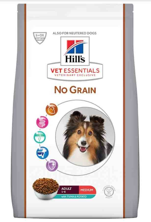 Hill's Vetessential No Grain Hill's VetEssentials Canine Canine Adult Medium No Grain Thon & Pommes de terre 10 kg
