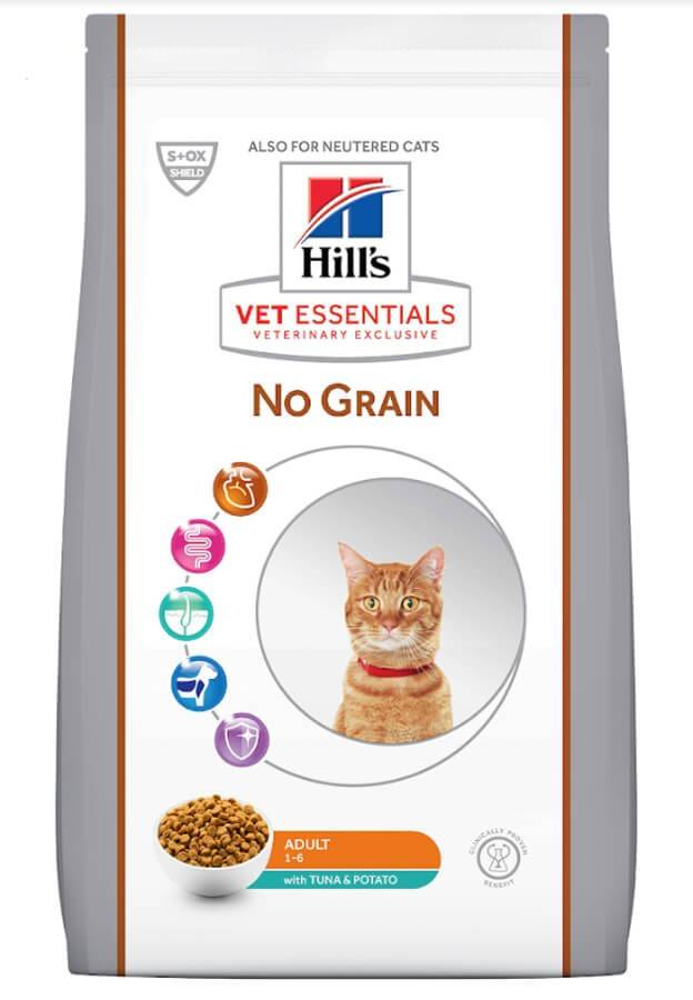 Hill's Vetessential No Grain Hill's VetEssentials Feline Adult No Grain Thon & Pommes de terre 8 kg