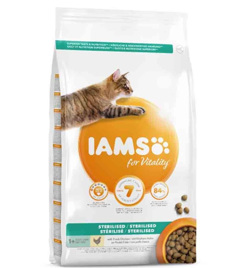 IAMS Vitality chat stérilisé poulet 10 kg