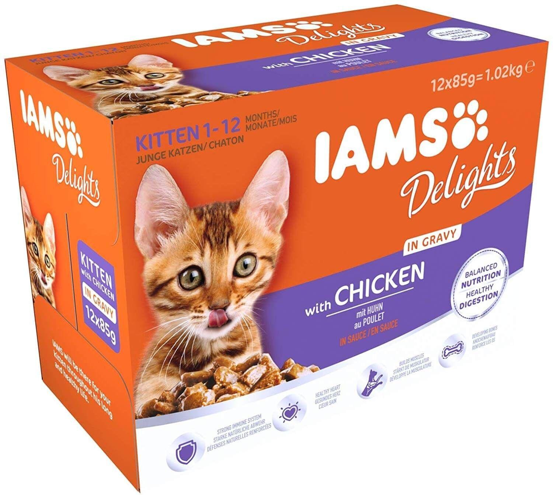 IAMS Delights Poulet en sauce chaton 12 x 85 grs