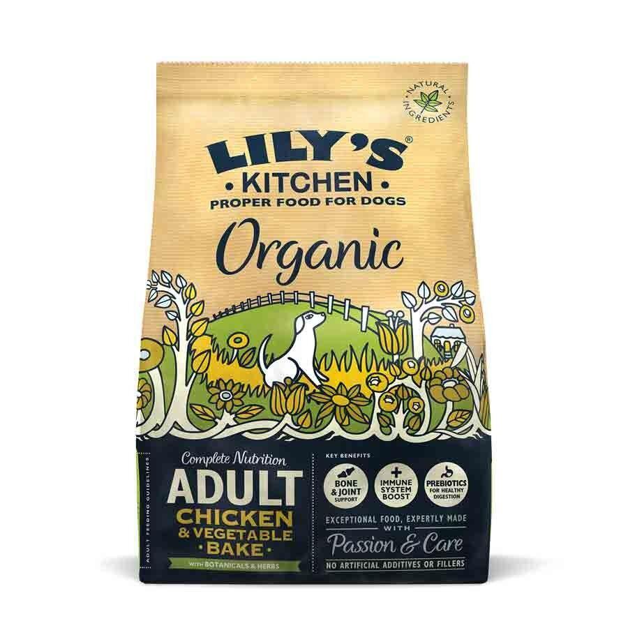 Lily's Kitchen Offre -10% Lily's Kitchen Croquettes Poulet et légumes BIO au four Chien 1 kg