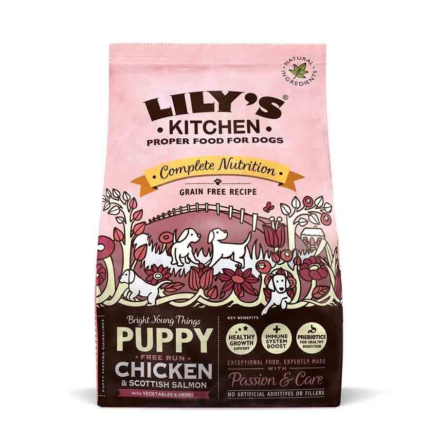 Lily's Kitchen Puppy Croquettes au Poulet et saumon d'Ecosse 1 kg