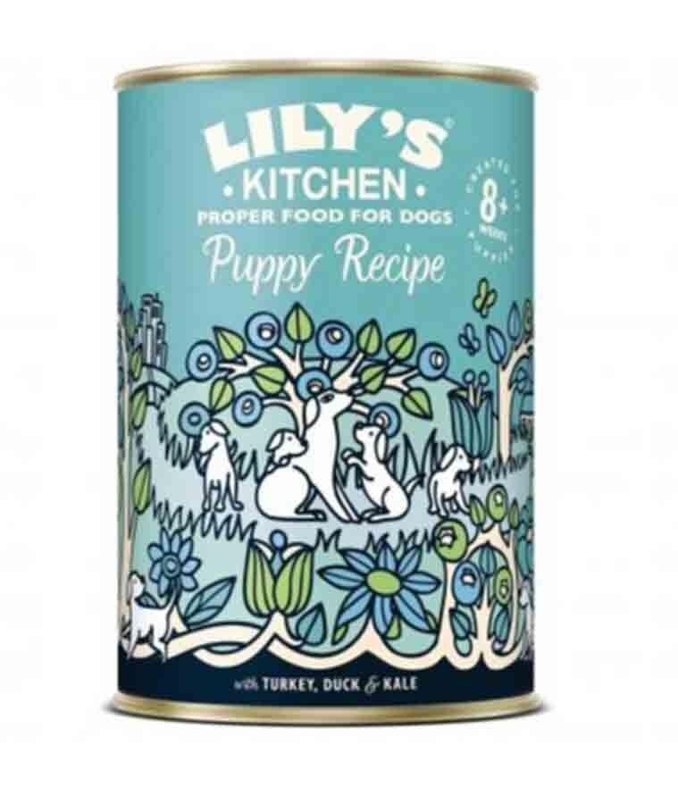 Lily's Kitchen Puppy recette à la dinde et au canard 6 x 400 g