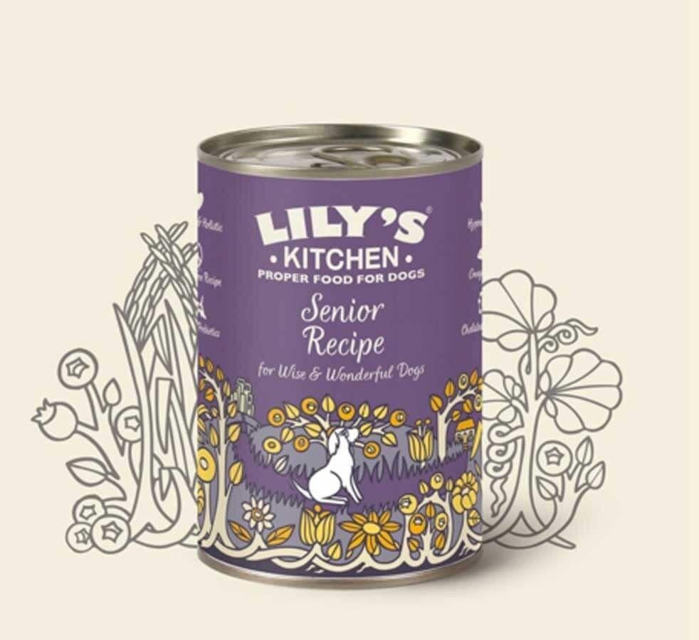 Lily's Kitchen Chien Senior Sans Céréales à la Dinde 6 x 400 g