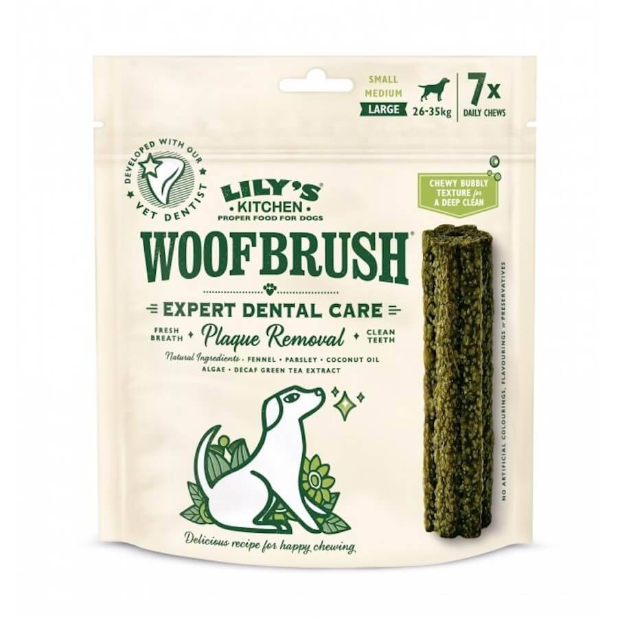Lily's Kitchen Woofbrush Baton Dentaire grand chien x 7