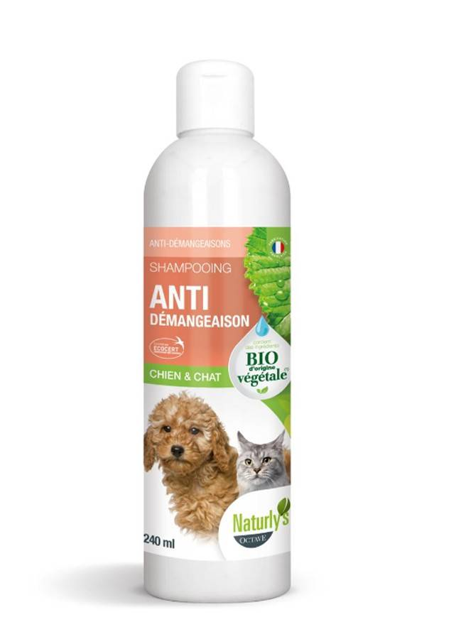 Naturlys Shampooing Anti-démangeaisons Bio chien et chat 240 ml