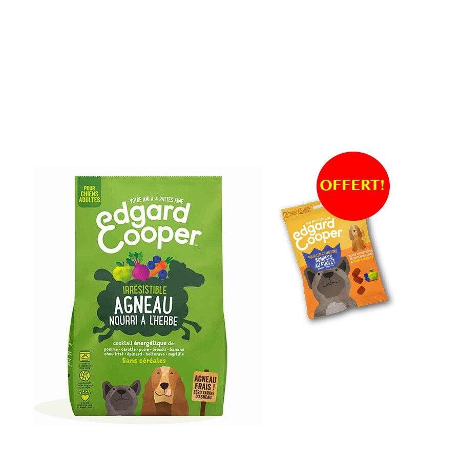 Edgard & Cooper Offre Edgard & Cooper: 1 sac de croquettes Agneau frais sans céréale Chien Adulte 2,5 kg acheté = 1 sachet de Bonbecs au poulet offert