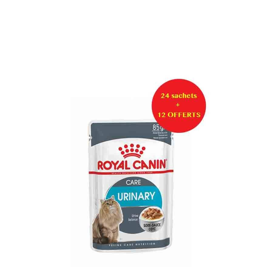 Royal Canin Feline Care Nutrition Offre Royal Canin Féline Care Nutrition Urinary Care sauce 24 sachets + 12 offerts