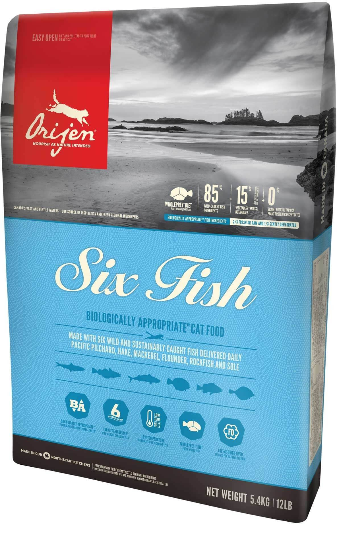 Orijen 6 Fish Chat 5,4 kg