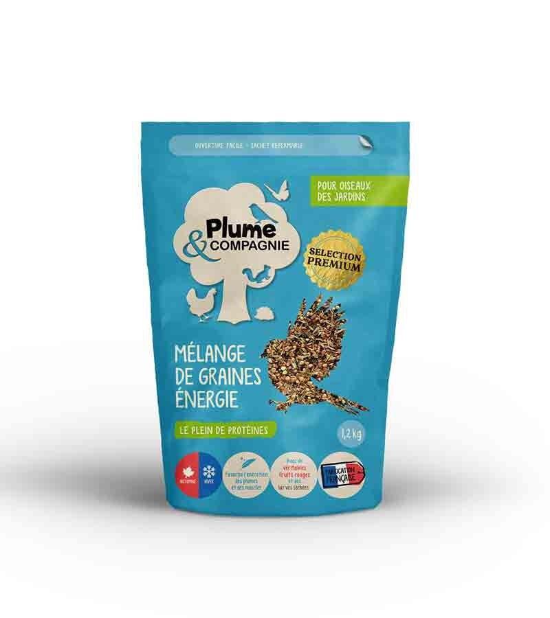 Plume & Compagnie Mélange de graines énergie 1,2 kg