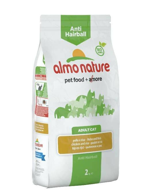 Almo Anti Hairball Almo Nature Chat Holistic Anti Hairball Poulet et riz 2 kg