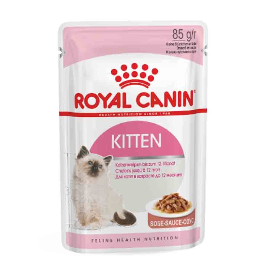 Royal Canin Feline Health Nutrition Royal Canin Kitten en sauce 12 x 85 grs