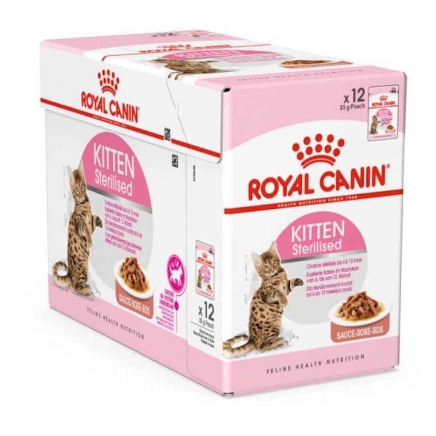 Royal Canin Feline Health Nutrition Royal Canin Kitten Sterilised sachet 12 x 85 grs