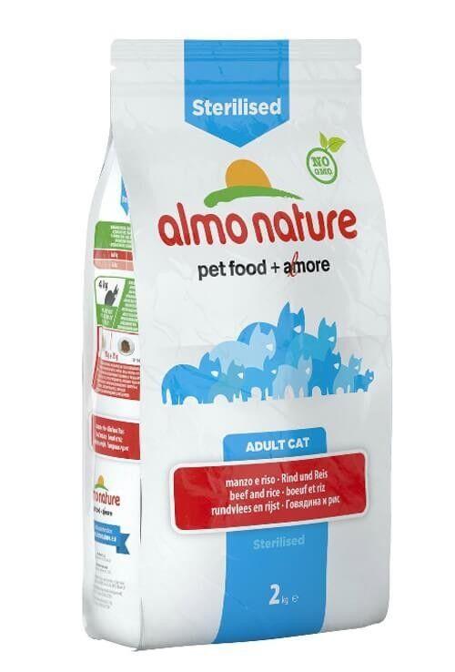 Almo Sterilised Almo Nature Chat Holistic Sterilised Boeuf et riz 2 kg