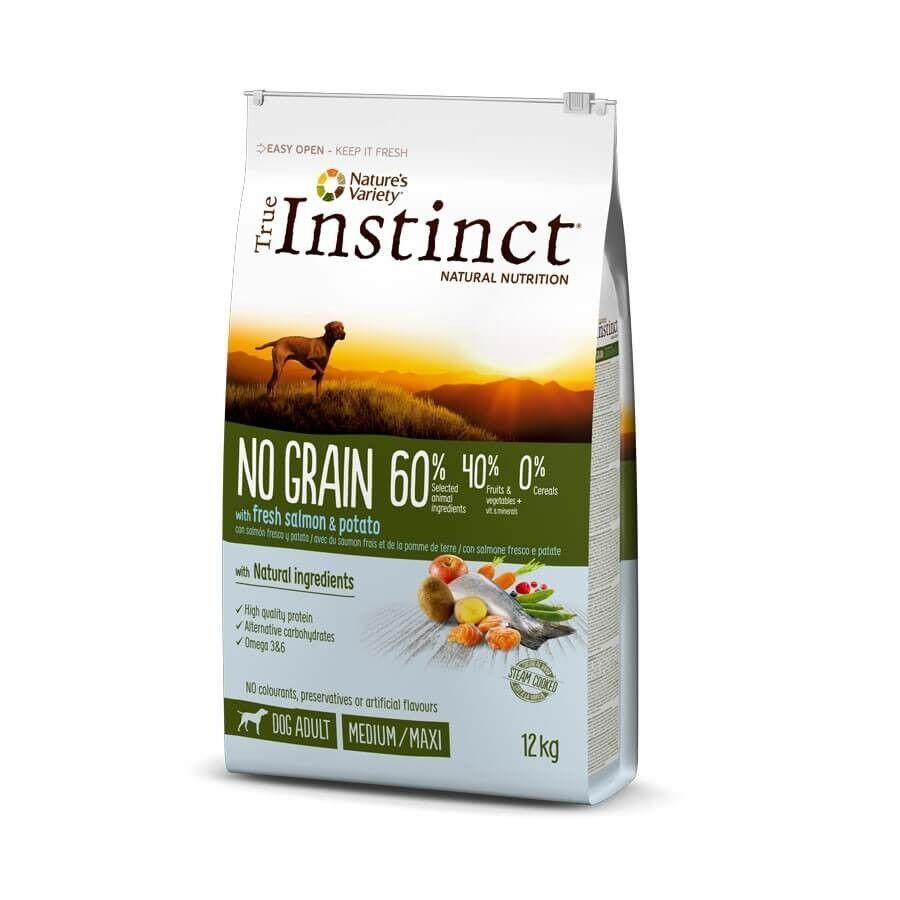 True Instinct No Grain Medium Maxi Adult Saumon 12 kg