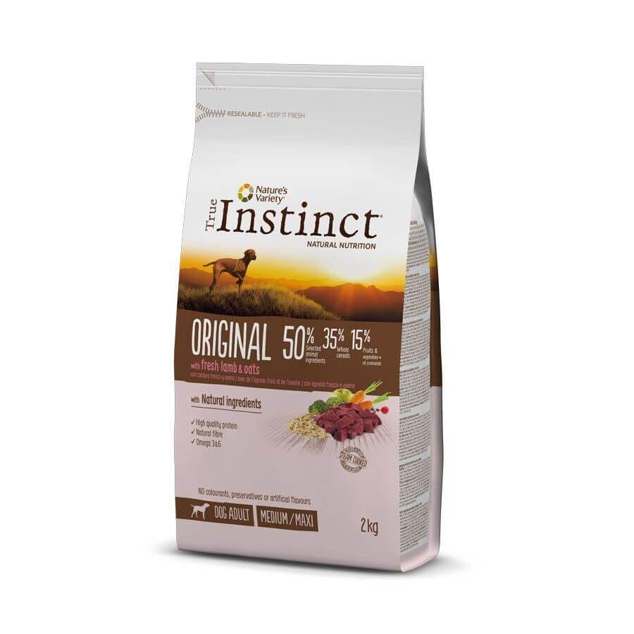 True Instinct Original Medium Maxi Adult Agneau 2 kg