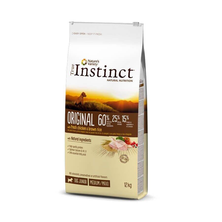 True Instinct Original Medium Maxi Junior Poulet 12 kg