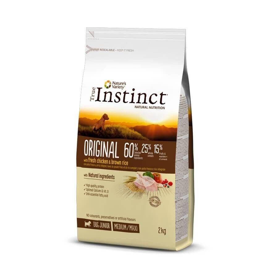 True Instinct Original Medium Maxi Junior Poulet 2 kg