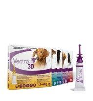 Vectra 3D Chien 1,5 à 4 kg 3 pipettes