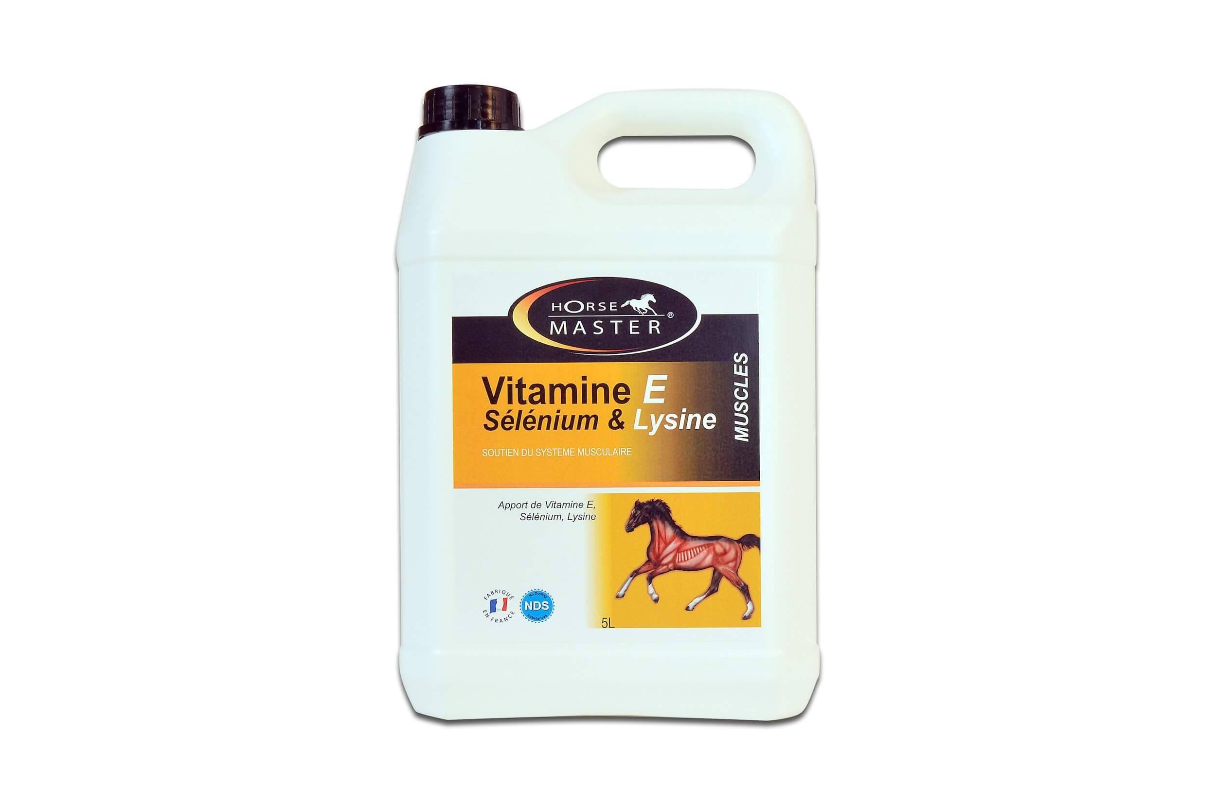 Horse Master Vitamine E - Sélénium & Lysine - Liquide 5 L