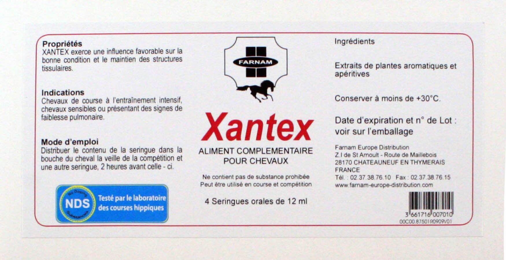 Farnam Xantex voies respiratoires du Cheval 4 x 12 ml