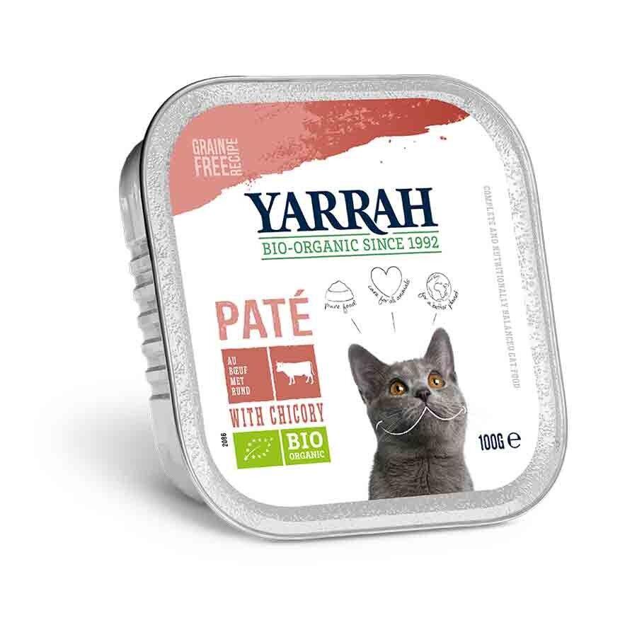 Yarrah Bio Pâté de boeuf à la chicorée pour chat 16 x 100 grs