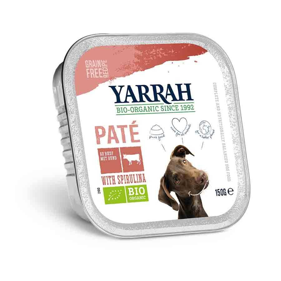 Yarrah Bio Pâté de boeuf à la spiruline pour chien 12 x 150 grs